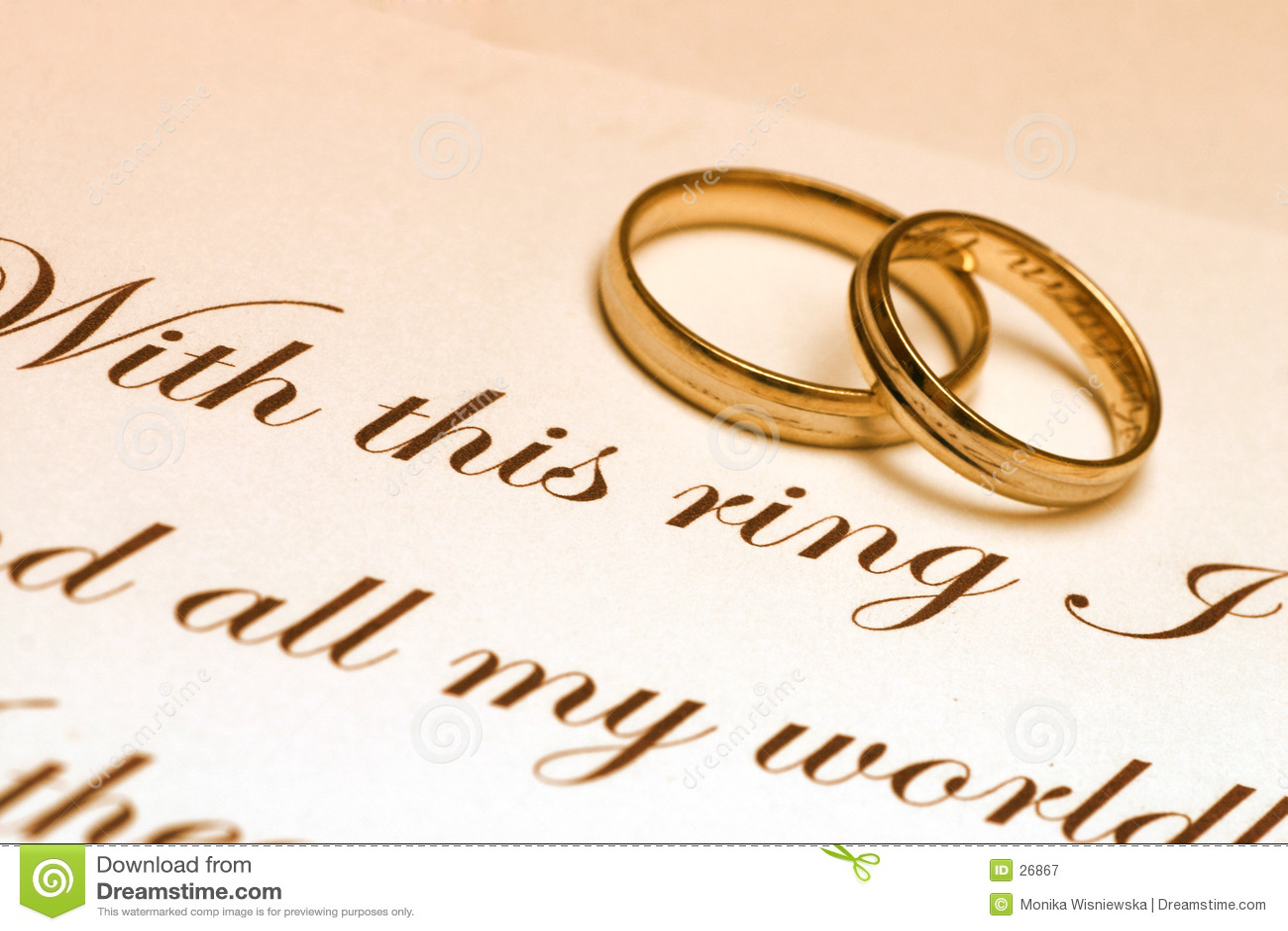 Pierścień przysięgi ślub