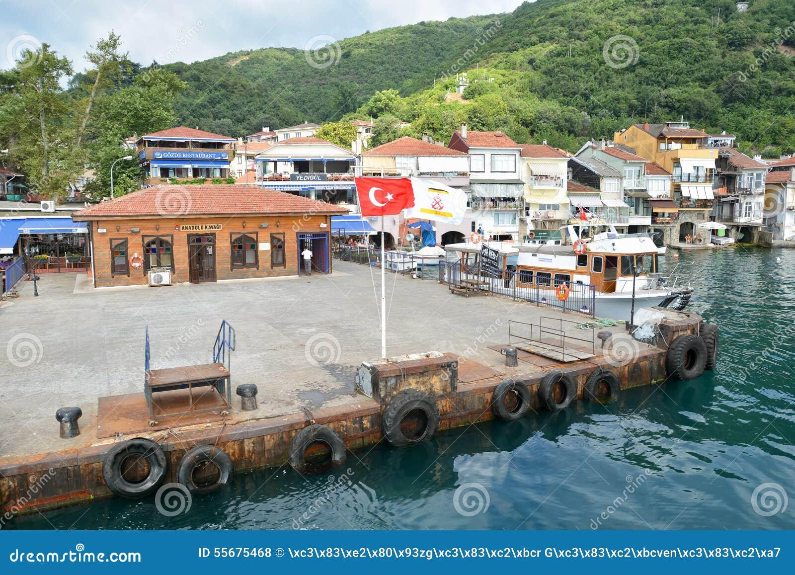 Pier Of Anadolu Kavagi, Istanbul, Turkey Editorial Stock ...