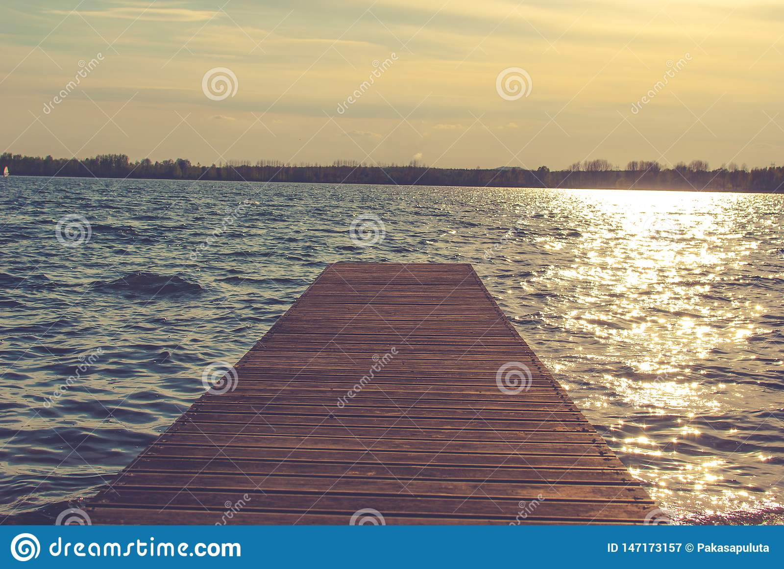Pier auf dem See