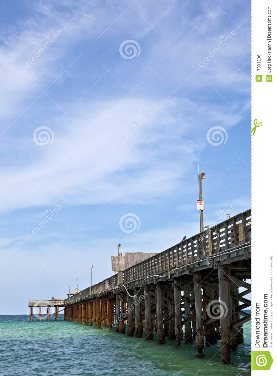 Pier on a beach in miami royalty free stock image image for Miami fishing piers