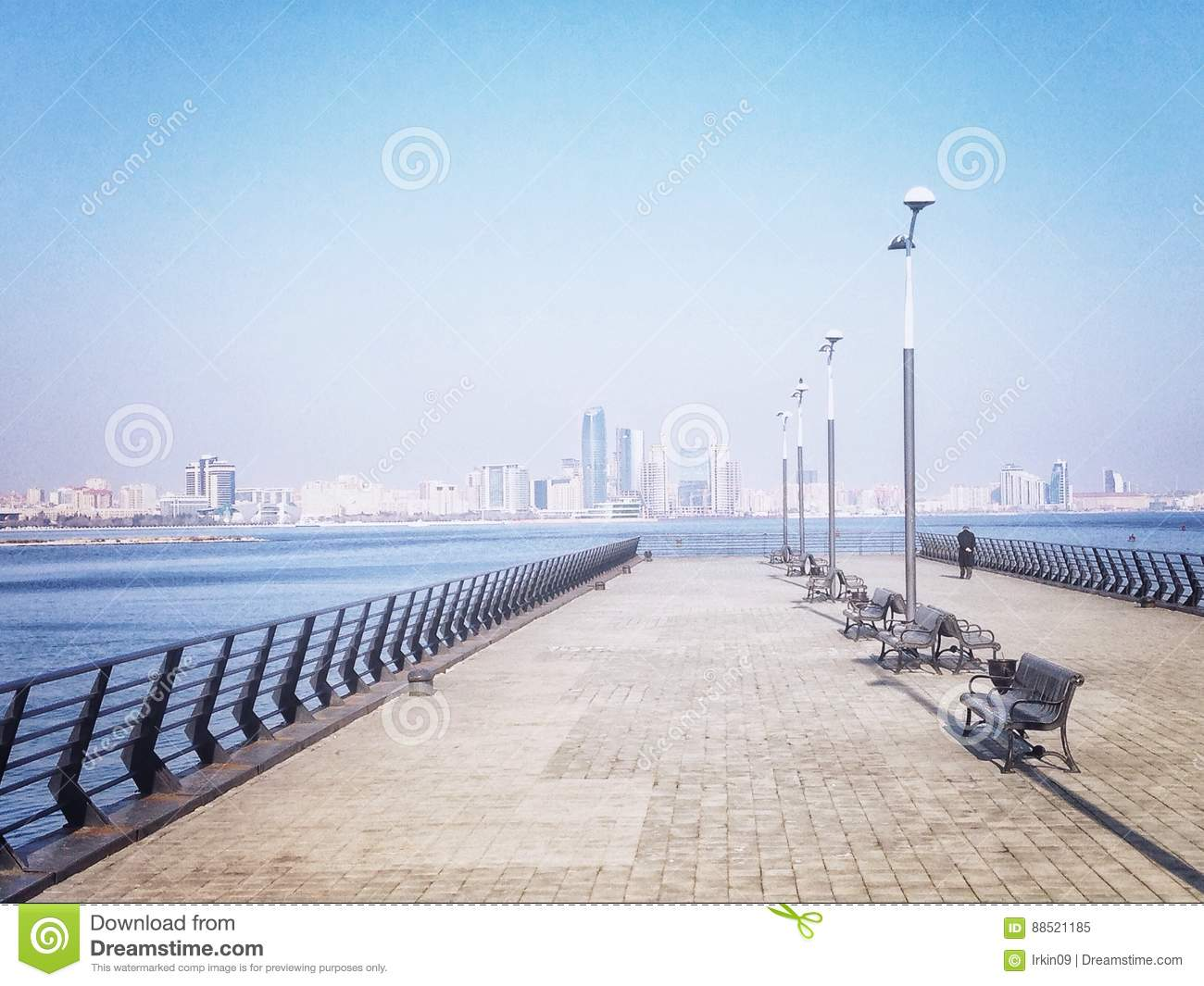 Pier at the Caspian Sea