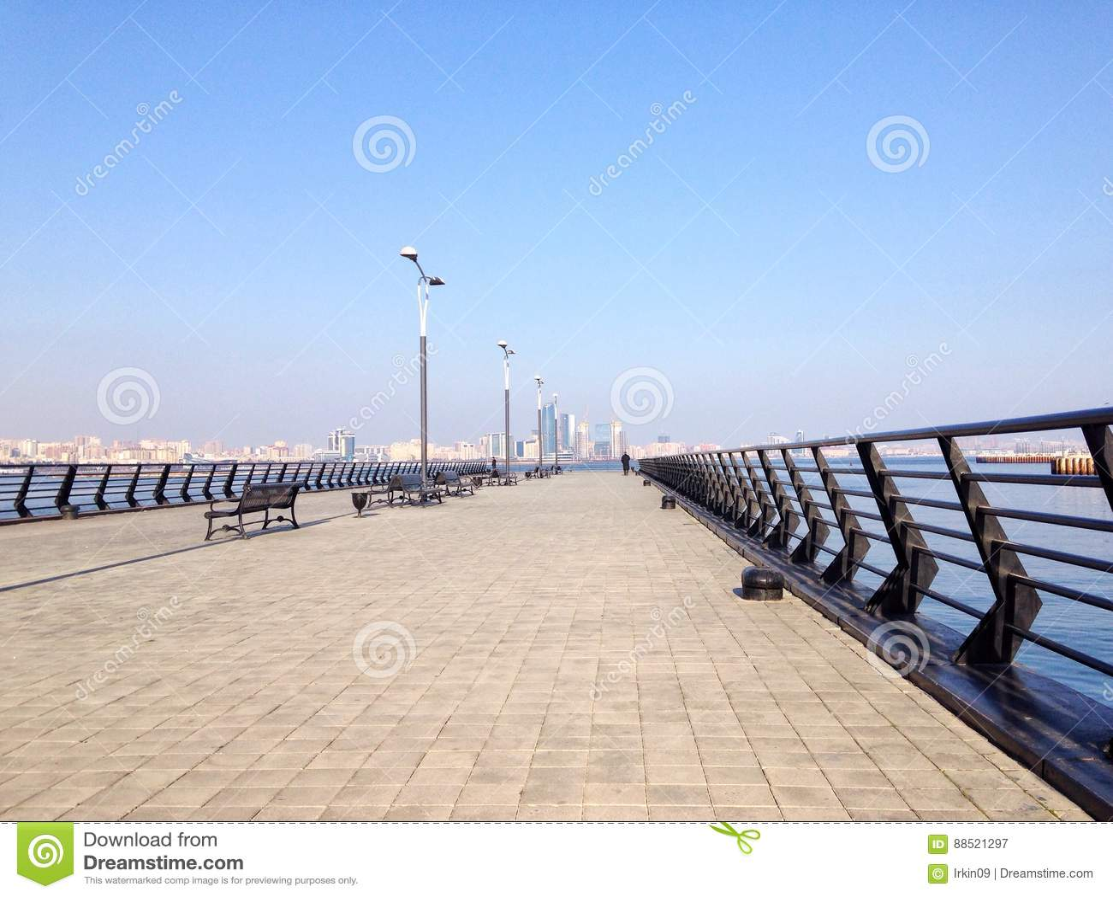 Pier at the Caspian Sea