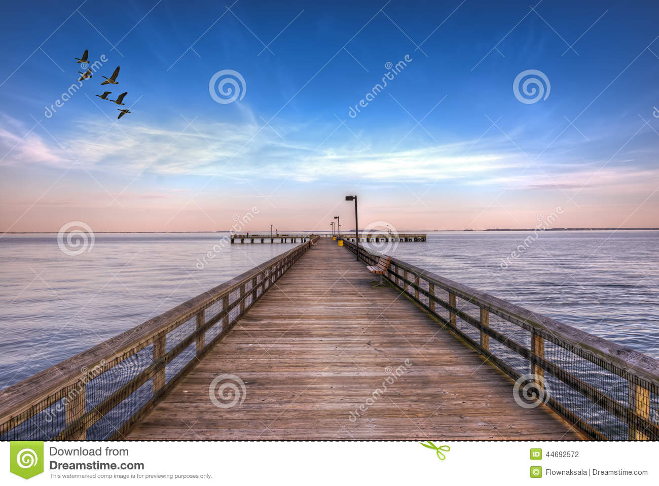 Pier into the chesapeake stock photo image 44692572 for Maryland fishing piers