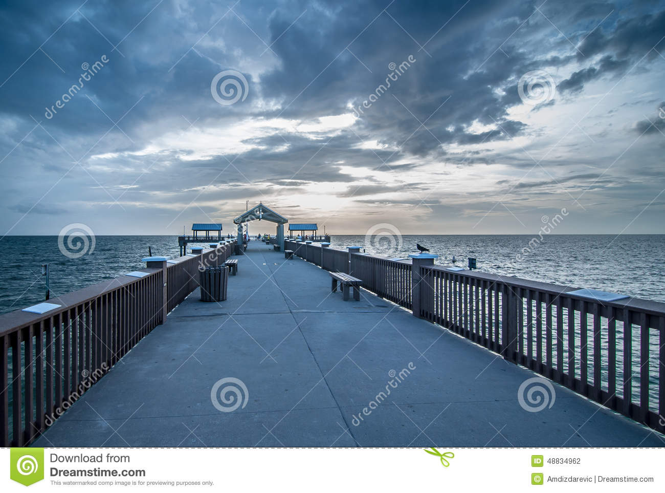 Clearwater beach pier 60 stock photo for Pier 60 fishing