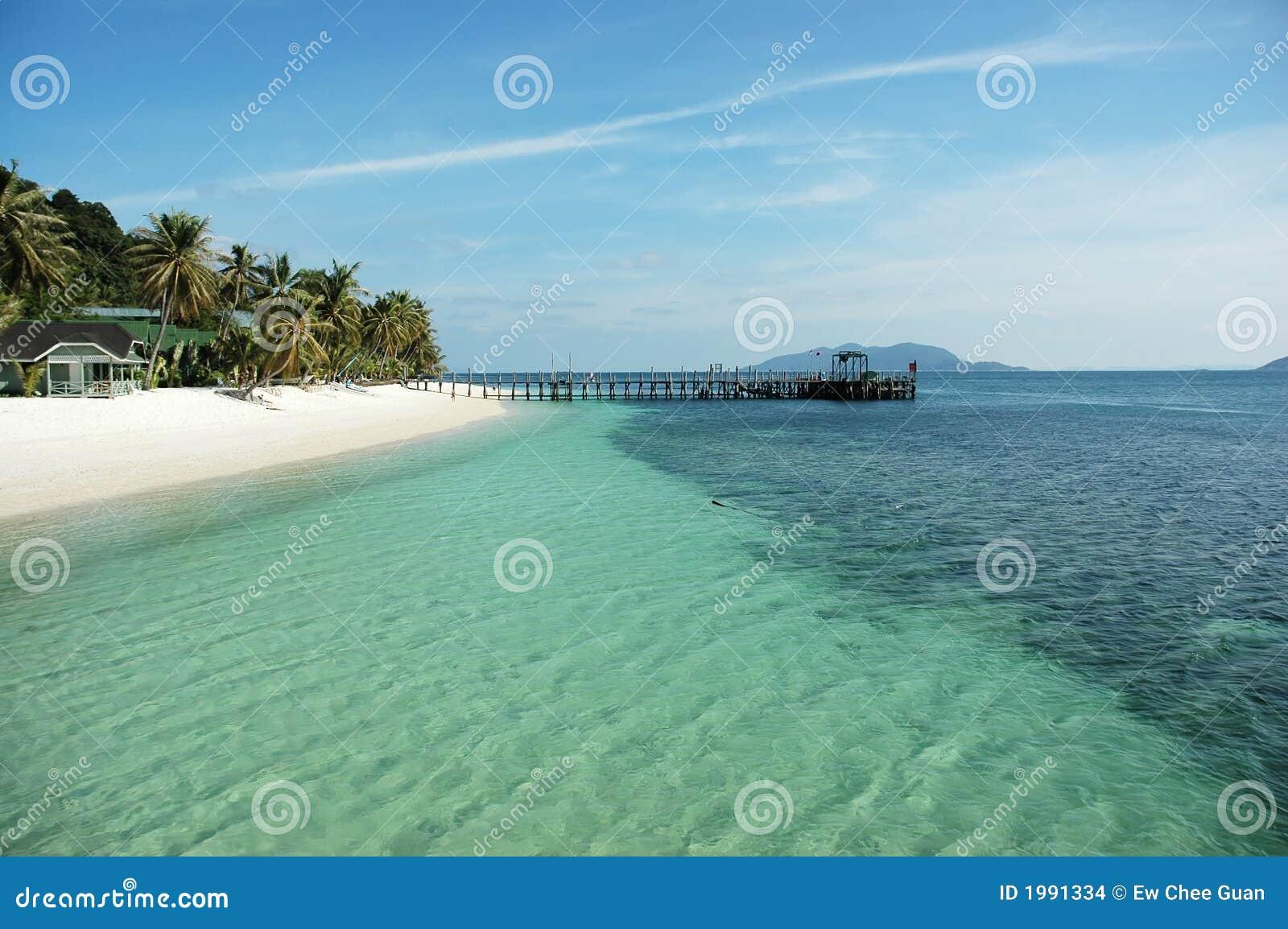 Pier en strand