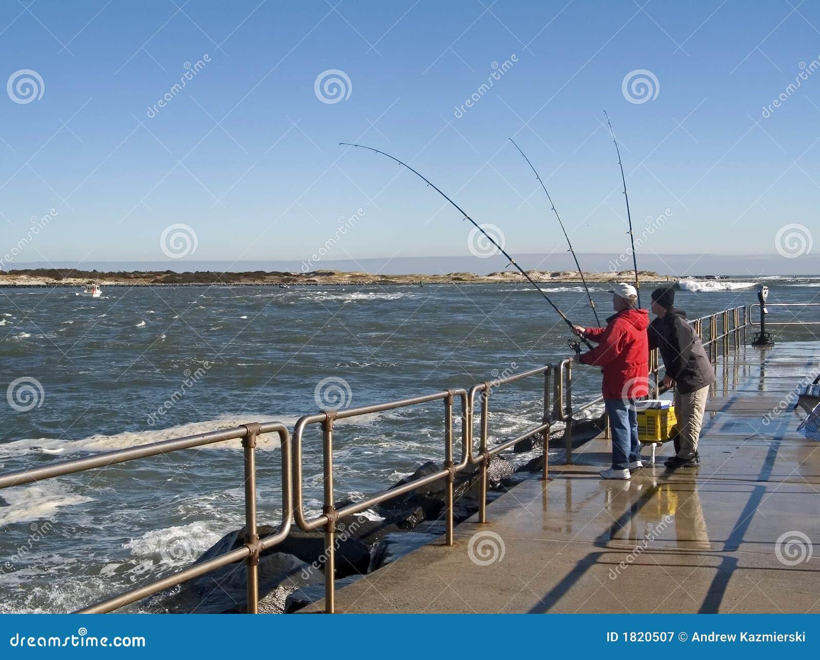 Pier fishing royalty free stock photography image 1820507 for Nj shore fishing