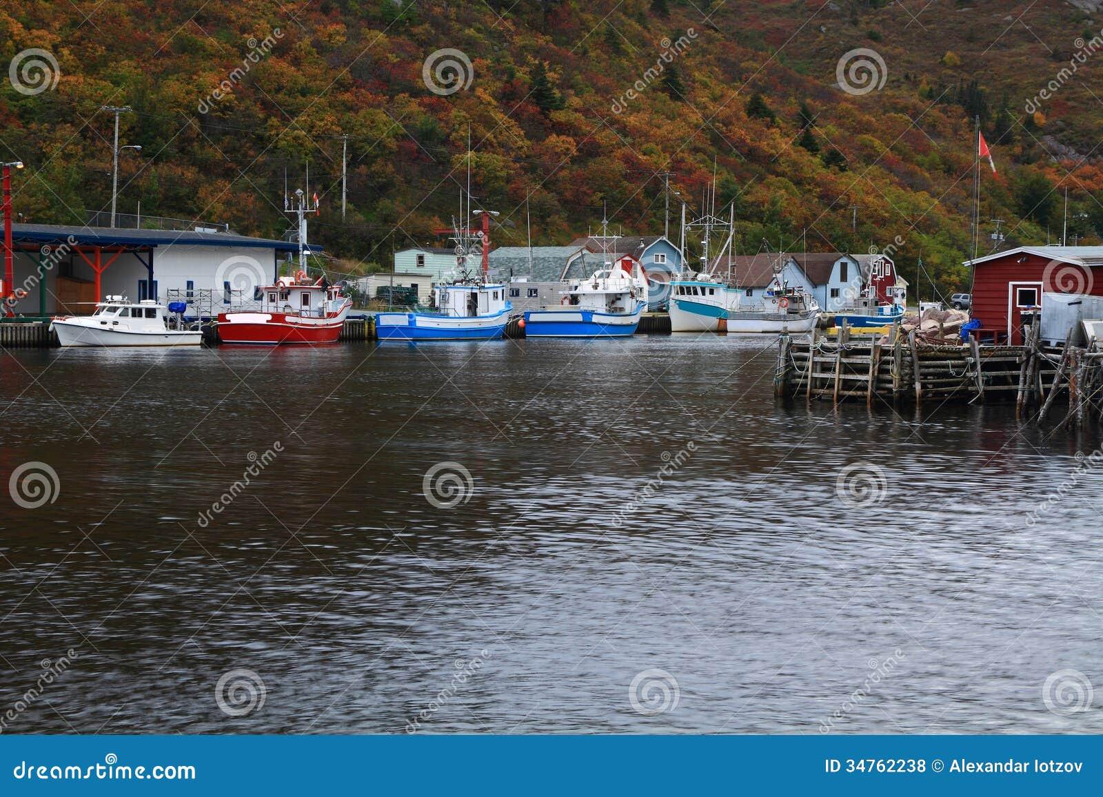 Pier For Fishing Boats (ships) Petty Harbor, Newfoundland, Canada Stock Photo - Image: 34762238