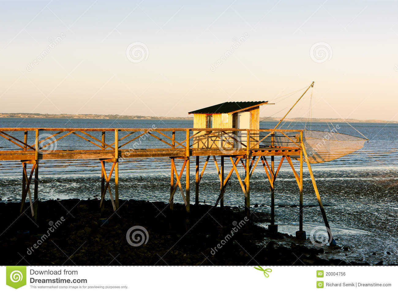 Pier with fishing net royalty free stock image image for Pier fishing net