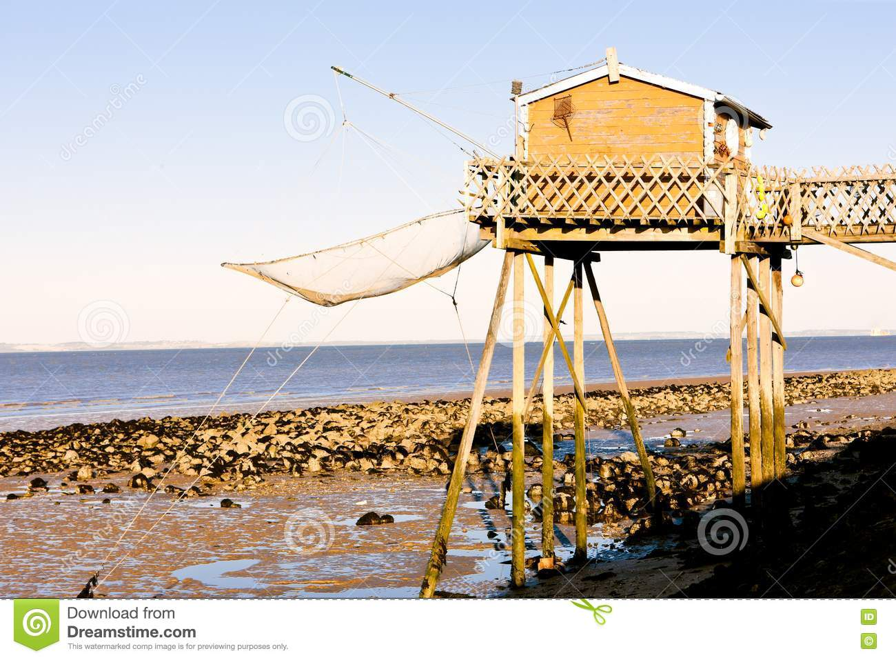 Pier with fishing net stock image image 20933321 for Pier fishing net