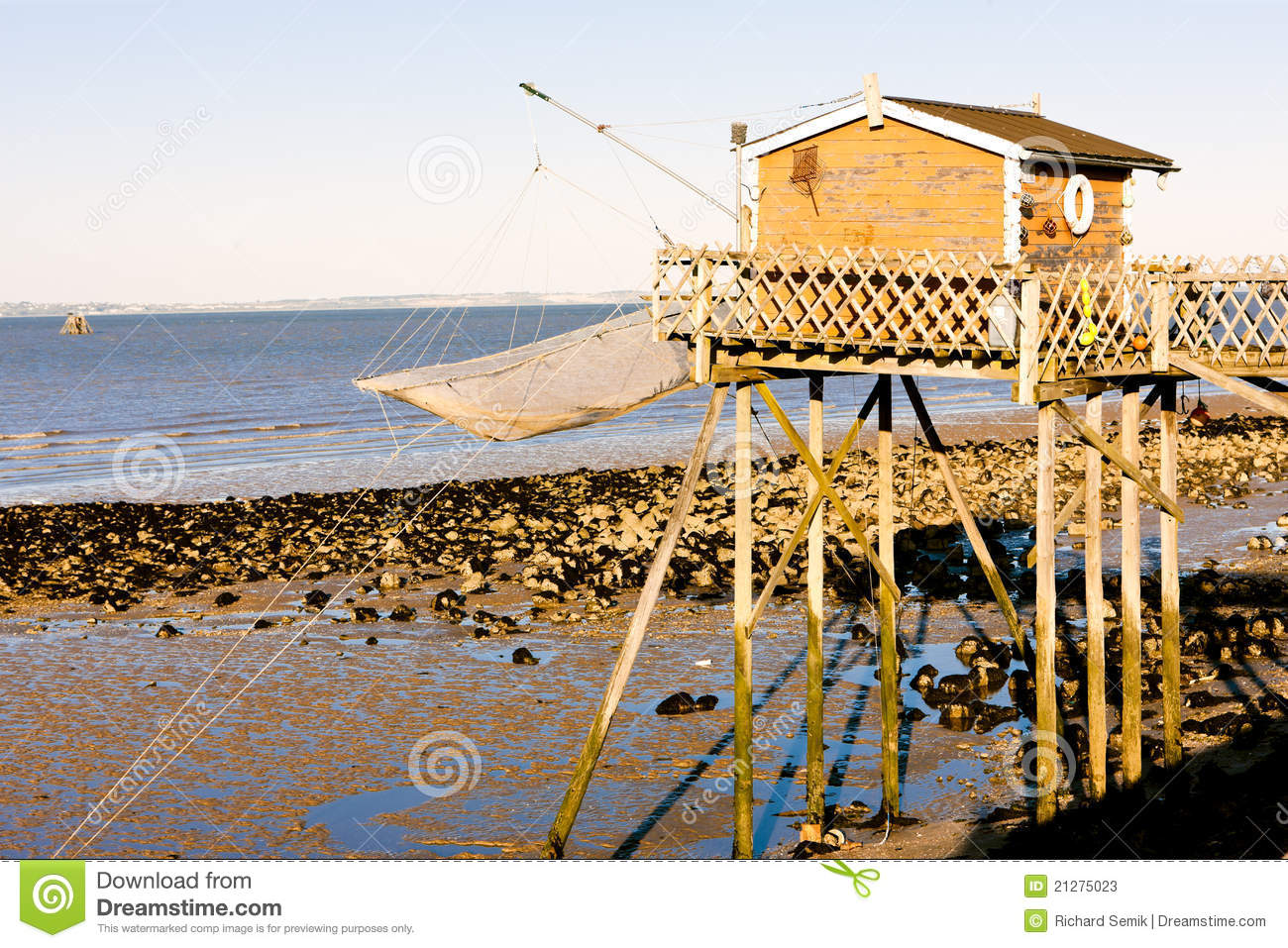 Pier with fishing net stock photos image 21275023 for Pier fishing net