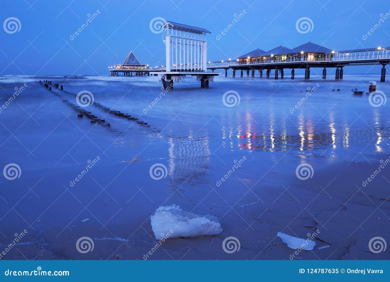 Pier in Heringsdorf, Usedom-Insel, Deutschland