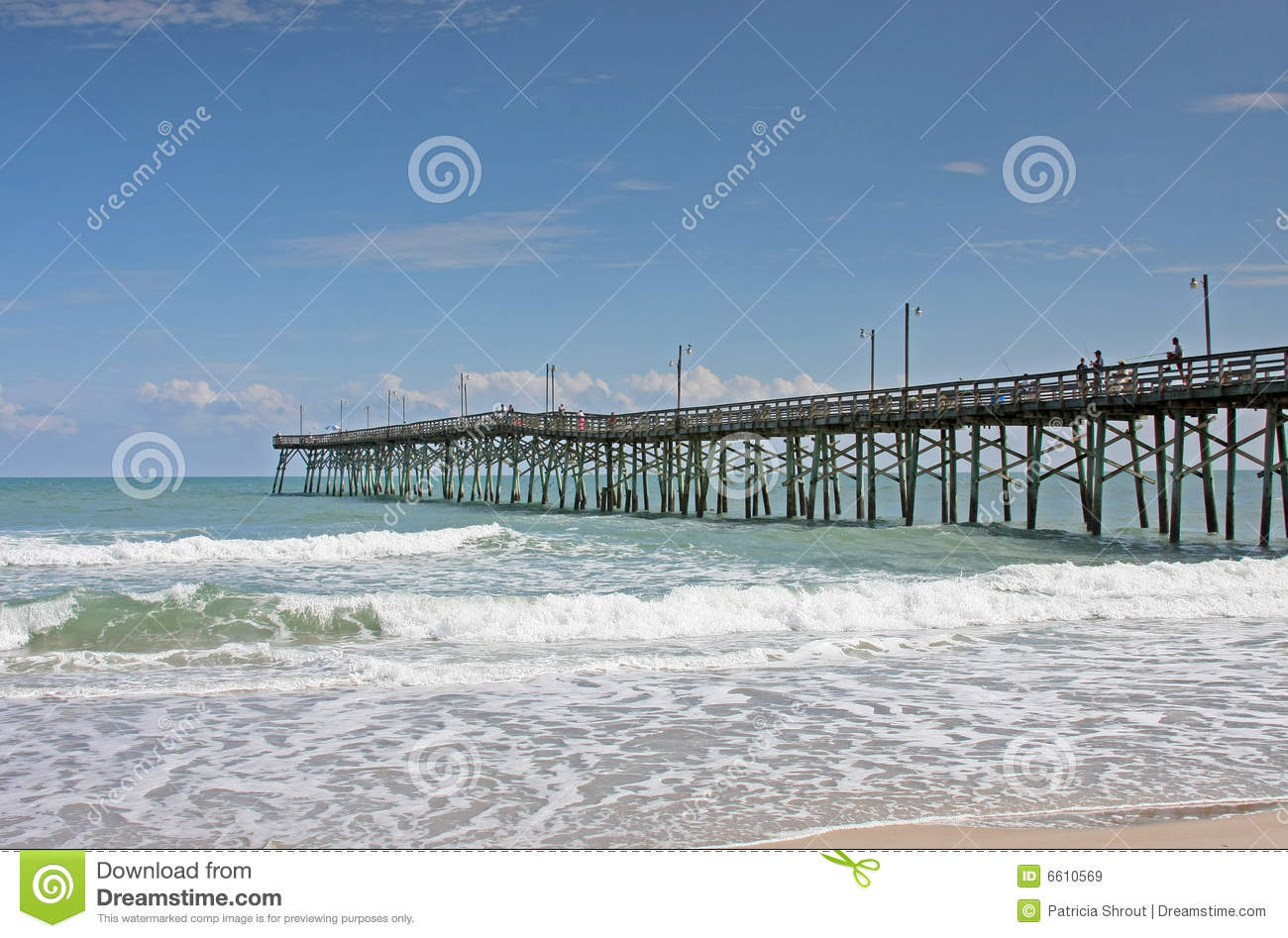 Pier on north carolina royalty free stock images image for Topsail fishing pier