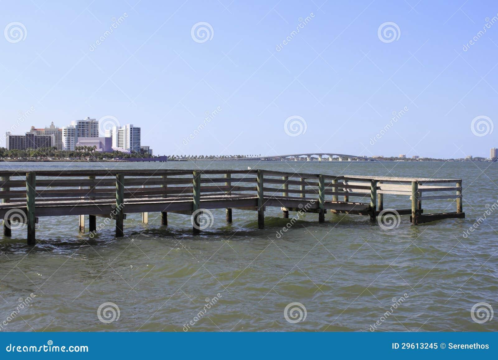Pier north of sarasota royalty free stock photo image for Sarasota fishing pier