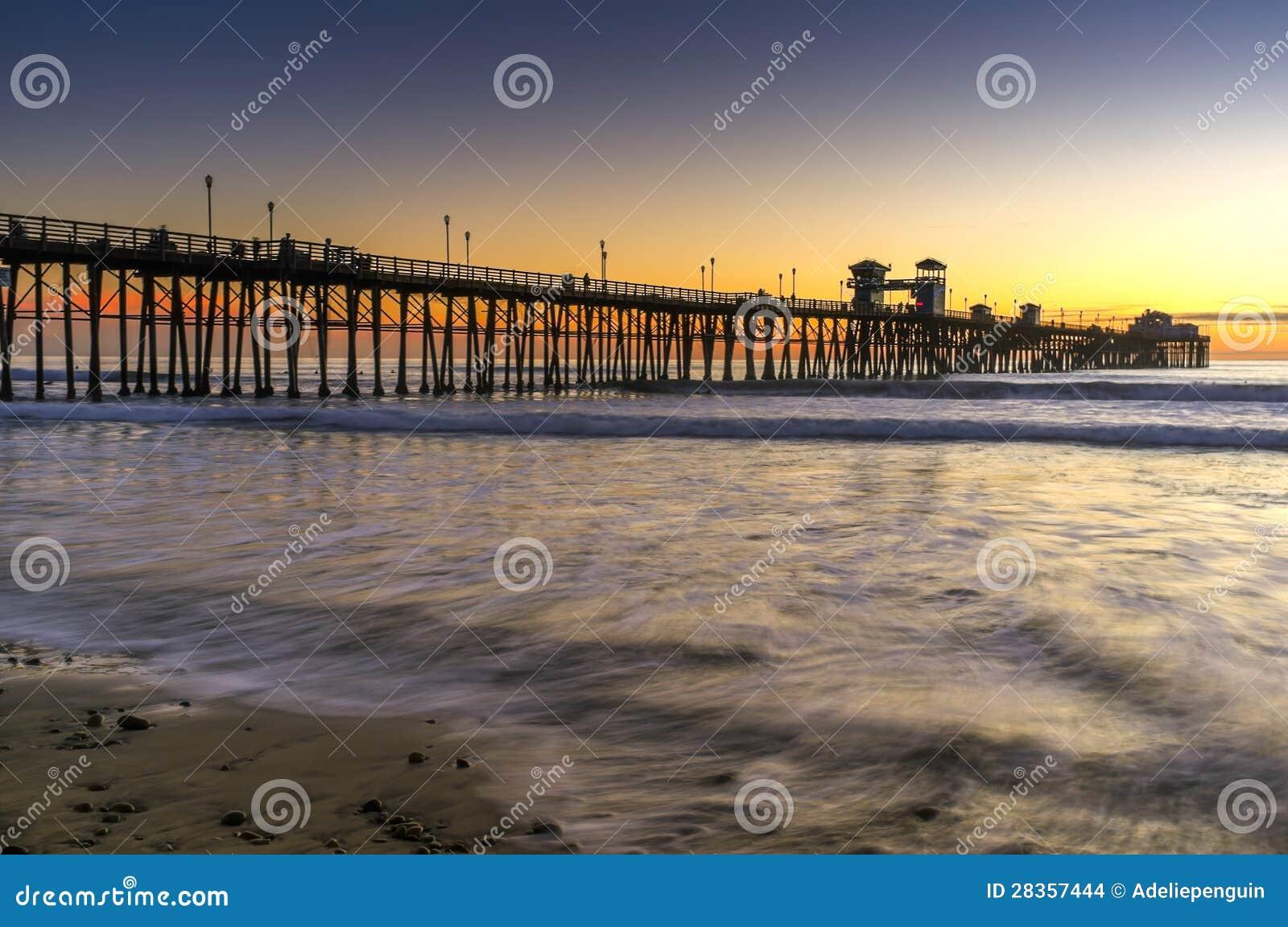 Pier at Sunset, Oceanside California
