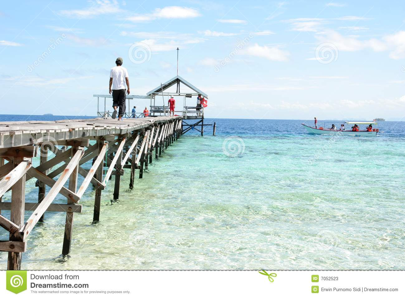 Pier At Tropical Beach Stock Photos - Image: 7052523