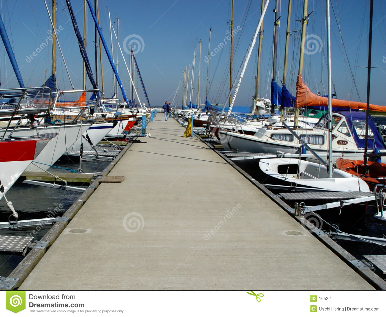 pier in a yachting club