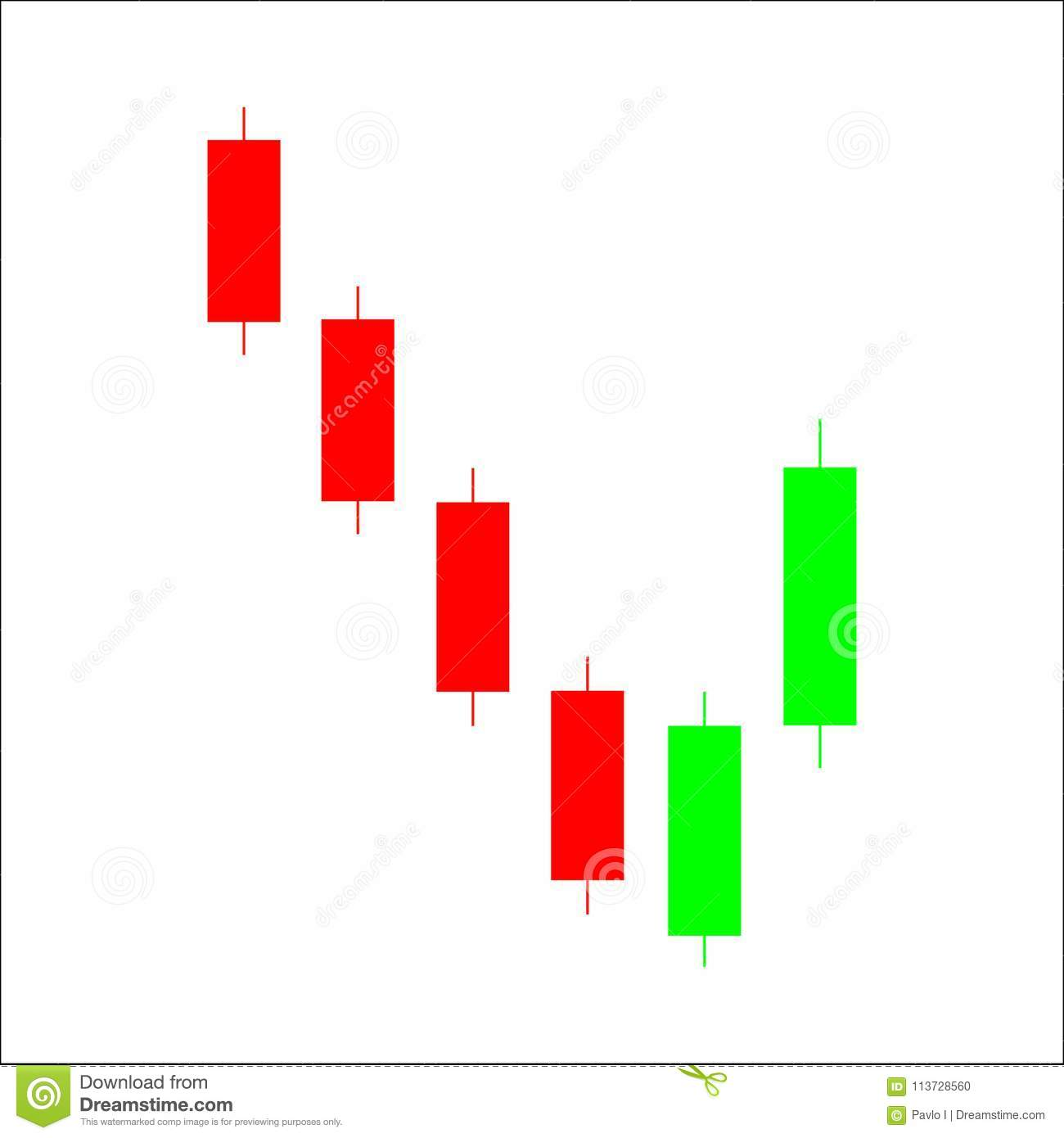 Piercing Line Candlestick Chart Pattern Candle Stick Graph Trad