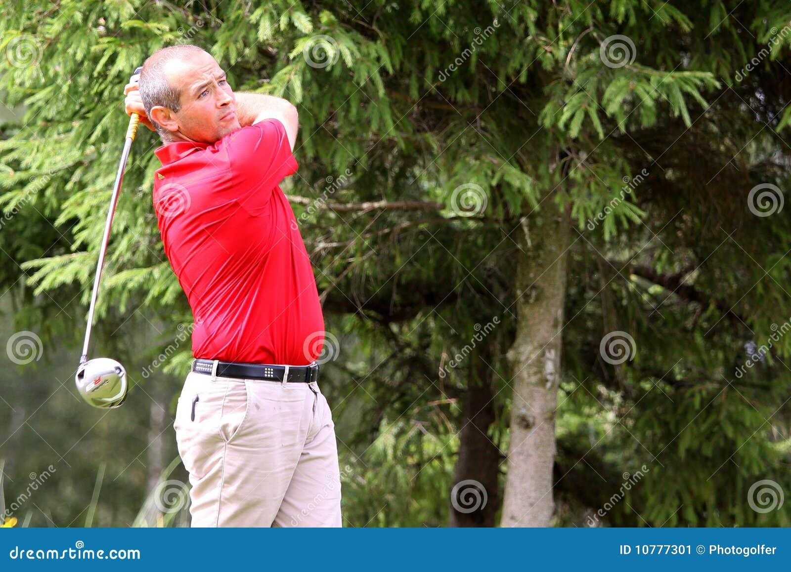 Pierre Bernis bij het golf Prevens Trpohee 2009