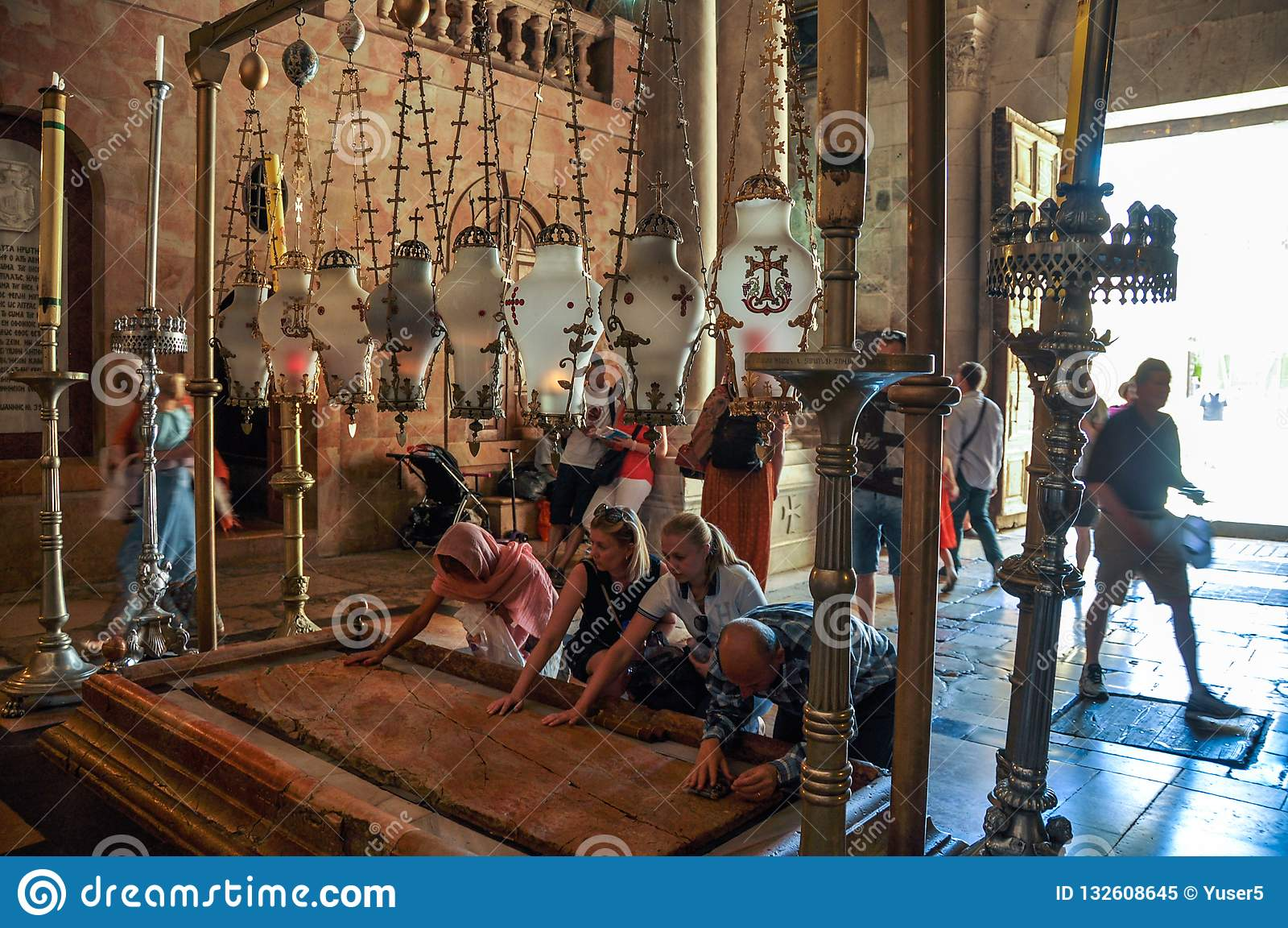 Pierre d onction dans l église de la tombe sainte