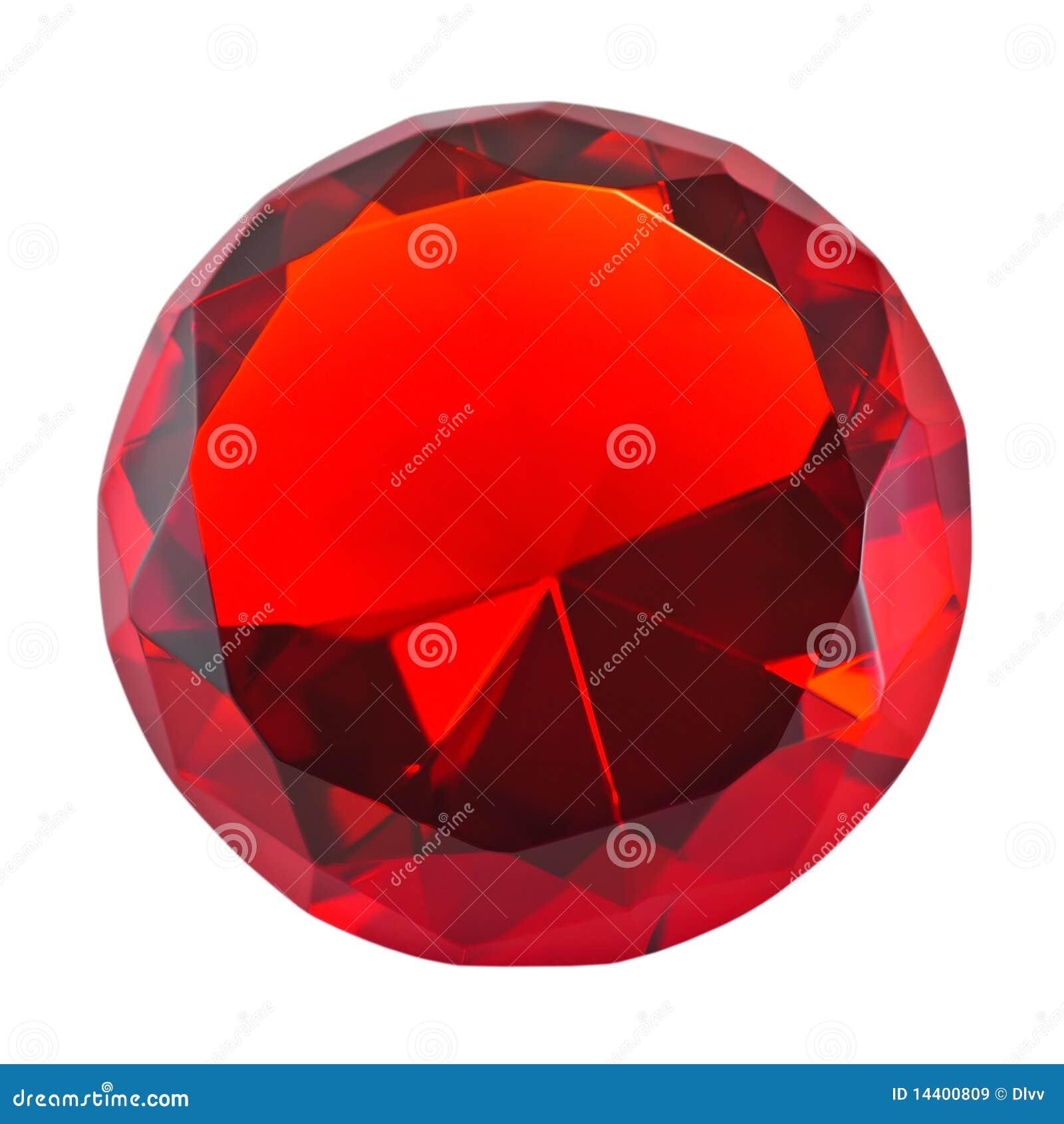 Pierre gemme ronde rouge