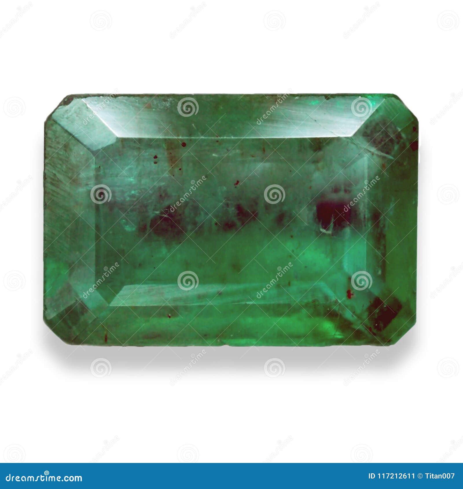 Couleur De L Emeraude pierre gemme verte avec la coupe d'émeraude image stock