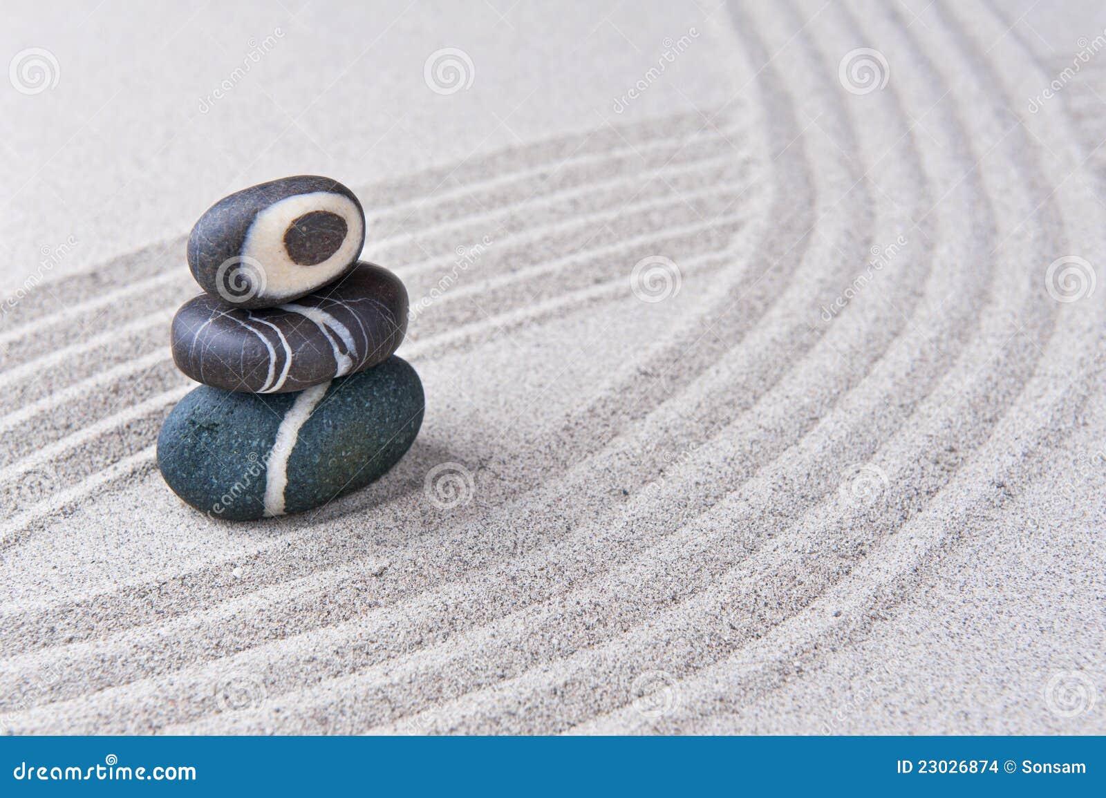 pierre japonaise de jardin de zen images stock image. Black Bedroom Furniture Sets. Home Design Ideas