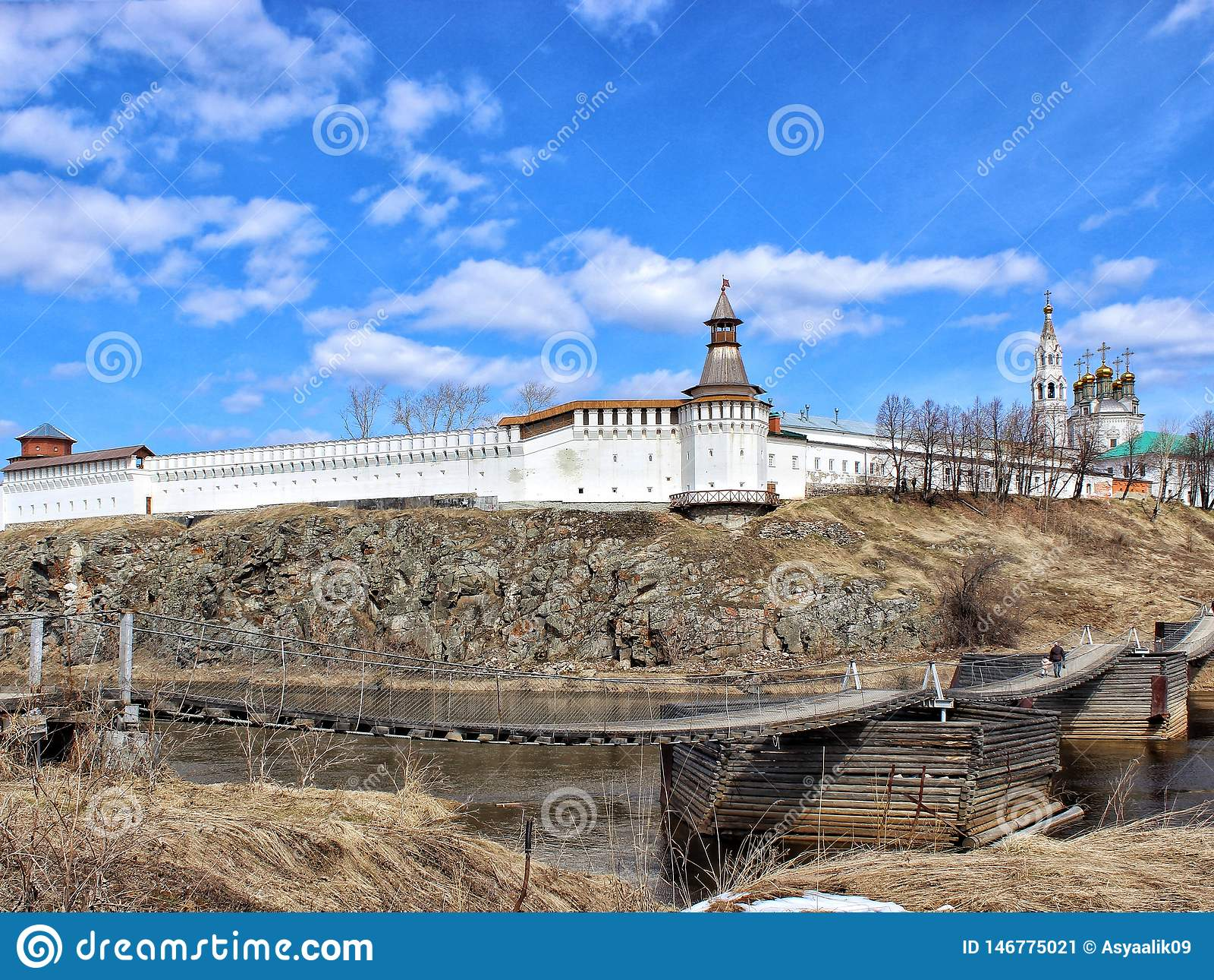 Pierre Kremlin de Verkhoturye Région spirituelle Russie de Sverdlovsk de centre d Ural
