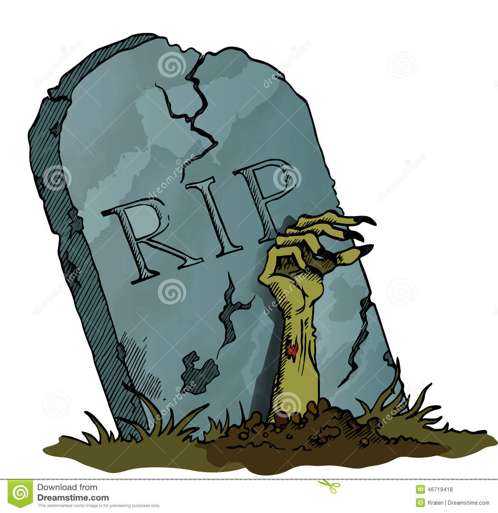 pierre tombale avec la main de zombi illustration stock image 46719418. Black Bedroom Furniture Sets. Home Design Ideas