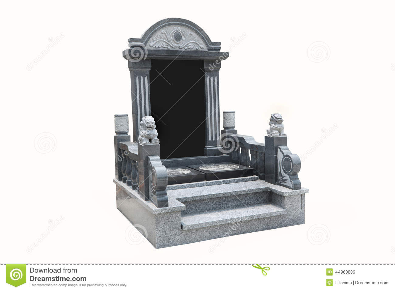 pierre tombale avec le fond blanc photo stock image du gravestone ciel 44968086. Black Bedroom Furniture Sets. Home Design Ideas
