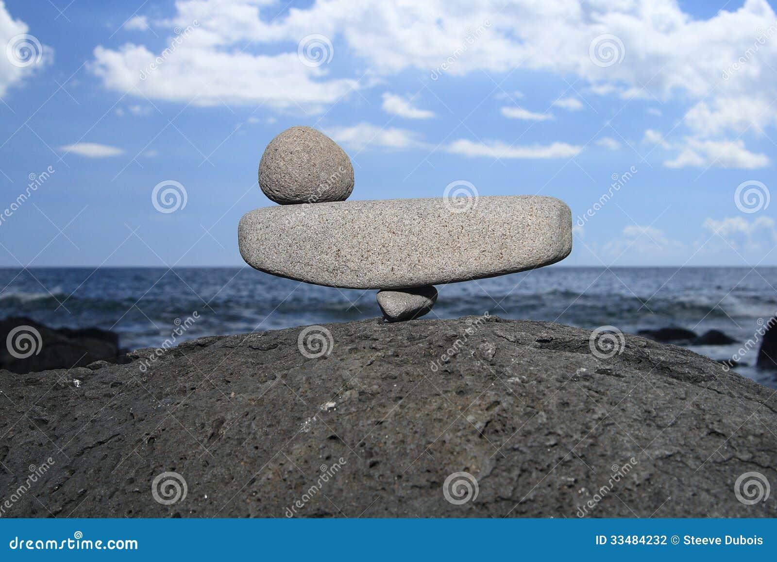 Charmant Image Montrant Trois Pierres Dans Lu0027équilibre Parfait, Illustrant Le  Concept De Lu0027équilibre