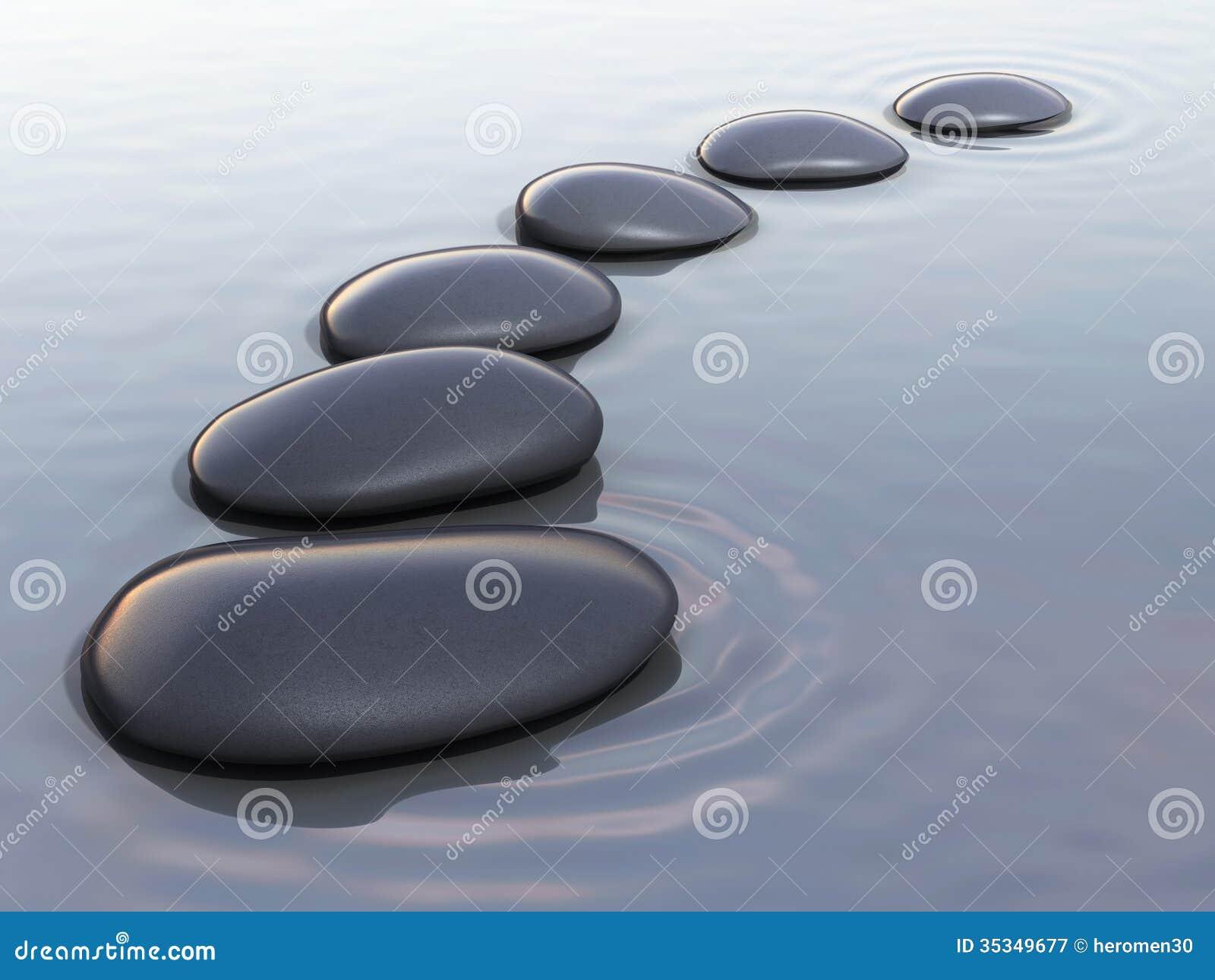 Pierres de zen sur l eau