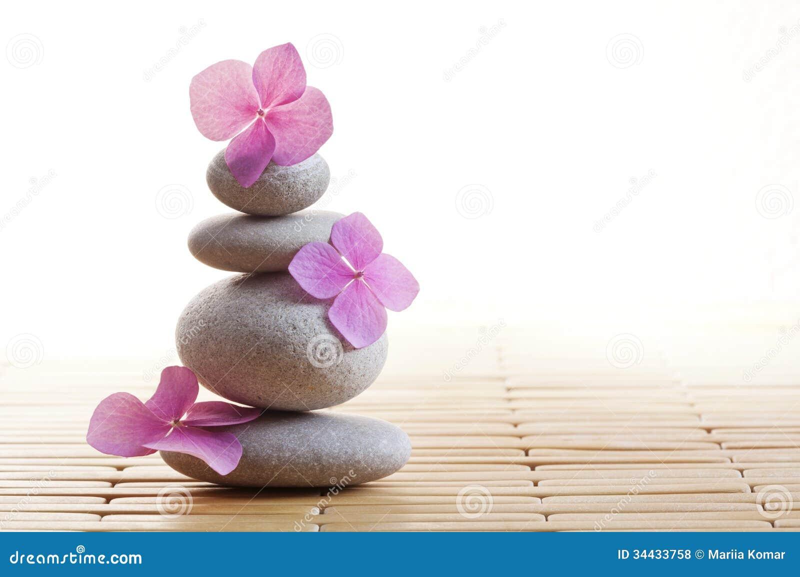Pierres et fleurs de zen