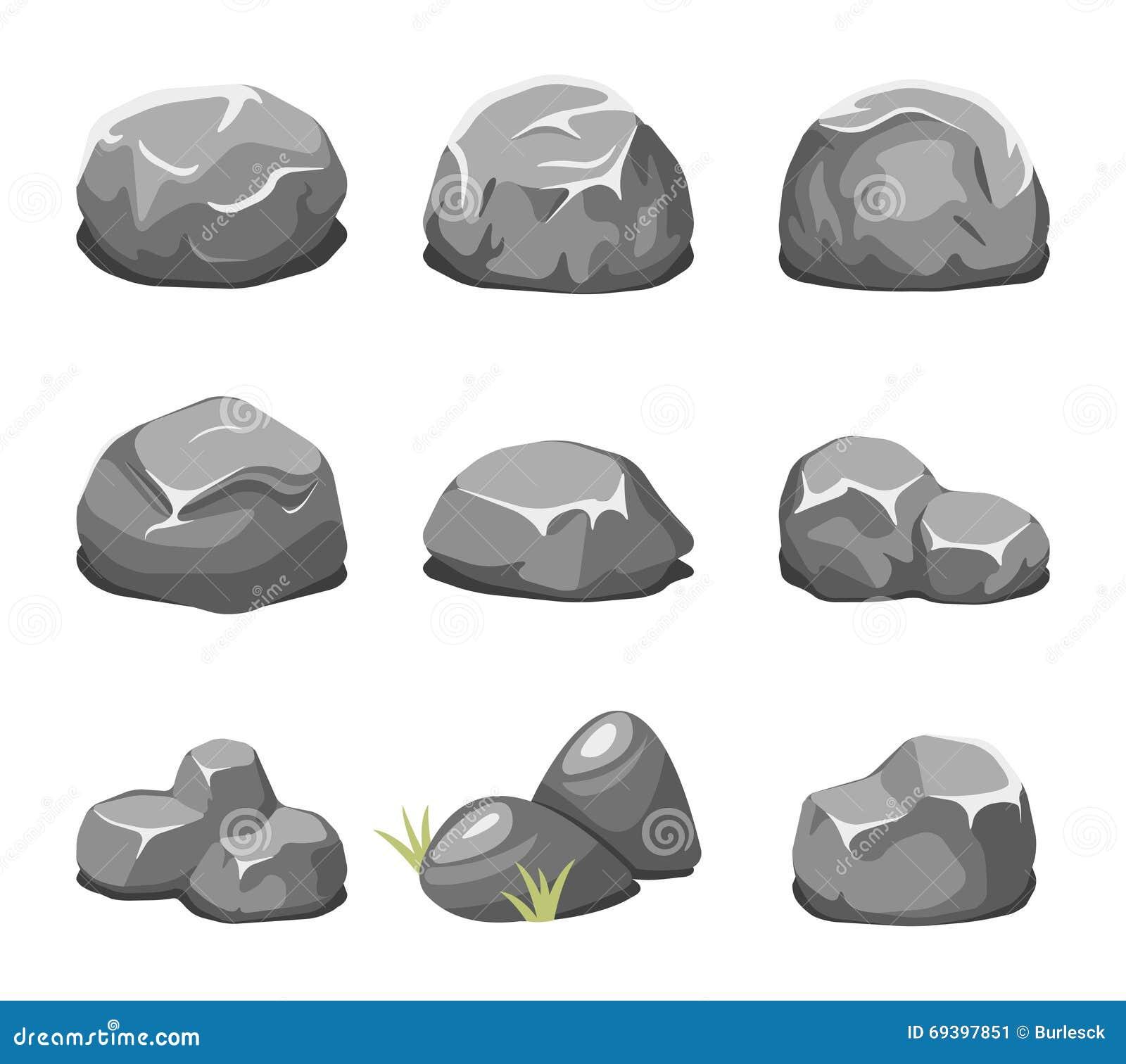 Pierres et vecteur de bande dessin e de roches illustration de vecteur illustration du - Rocher dessin ...