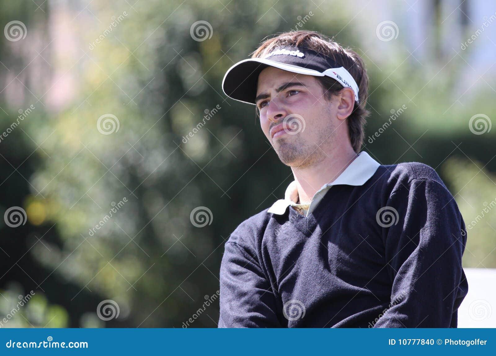 Pierrick Peracino bij het golf Prevens Trpohee 2009