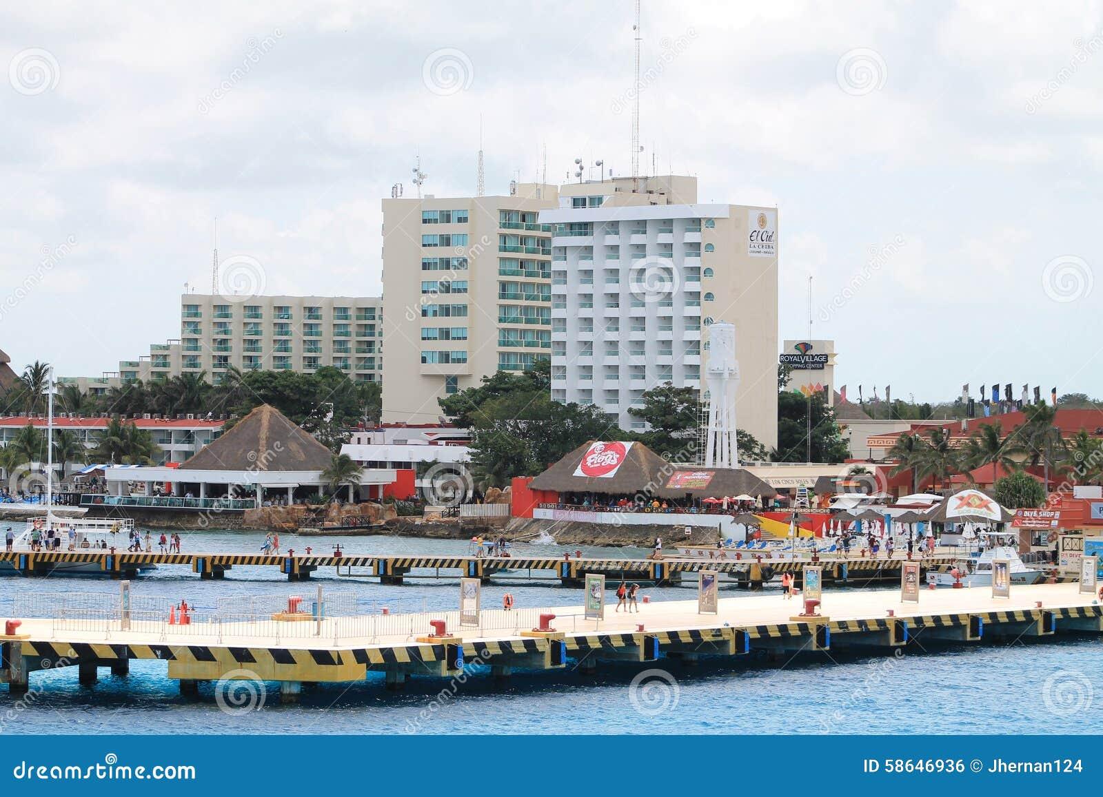 Piers mexican coastline