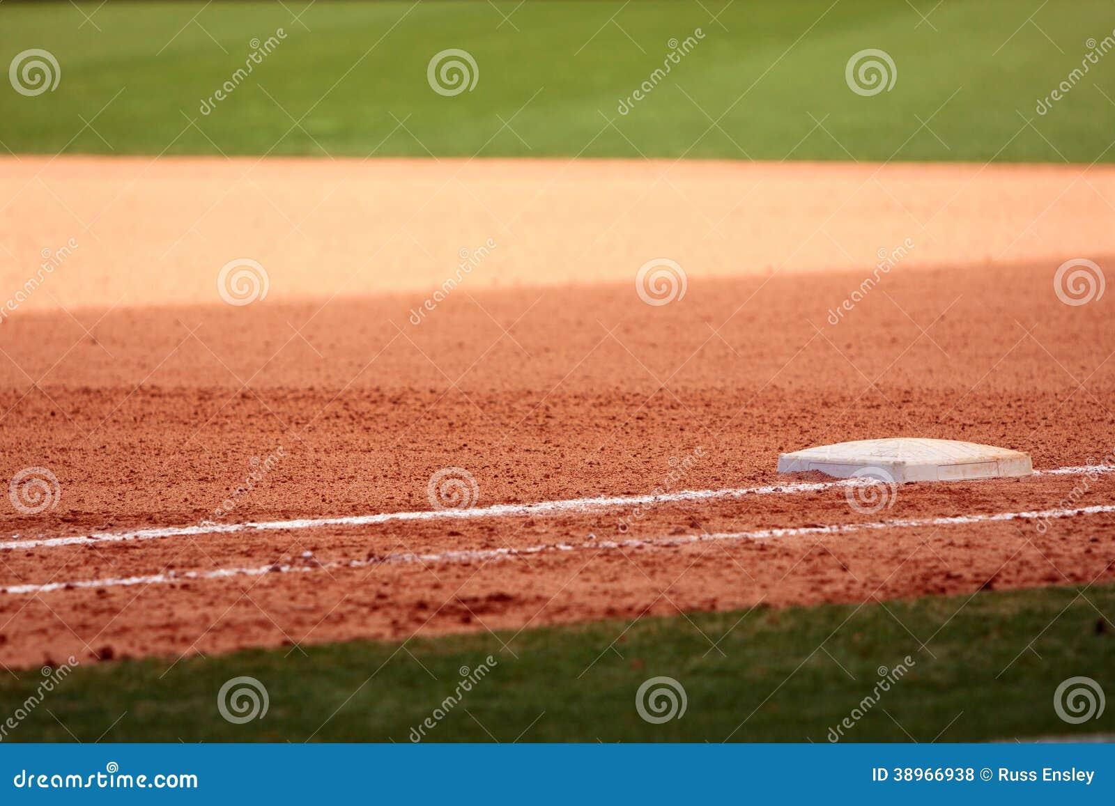 Pierwsza Baza Uwypuklająca W Pustym baseballa polu