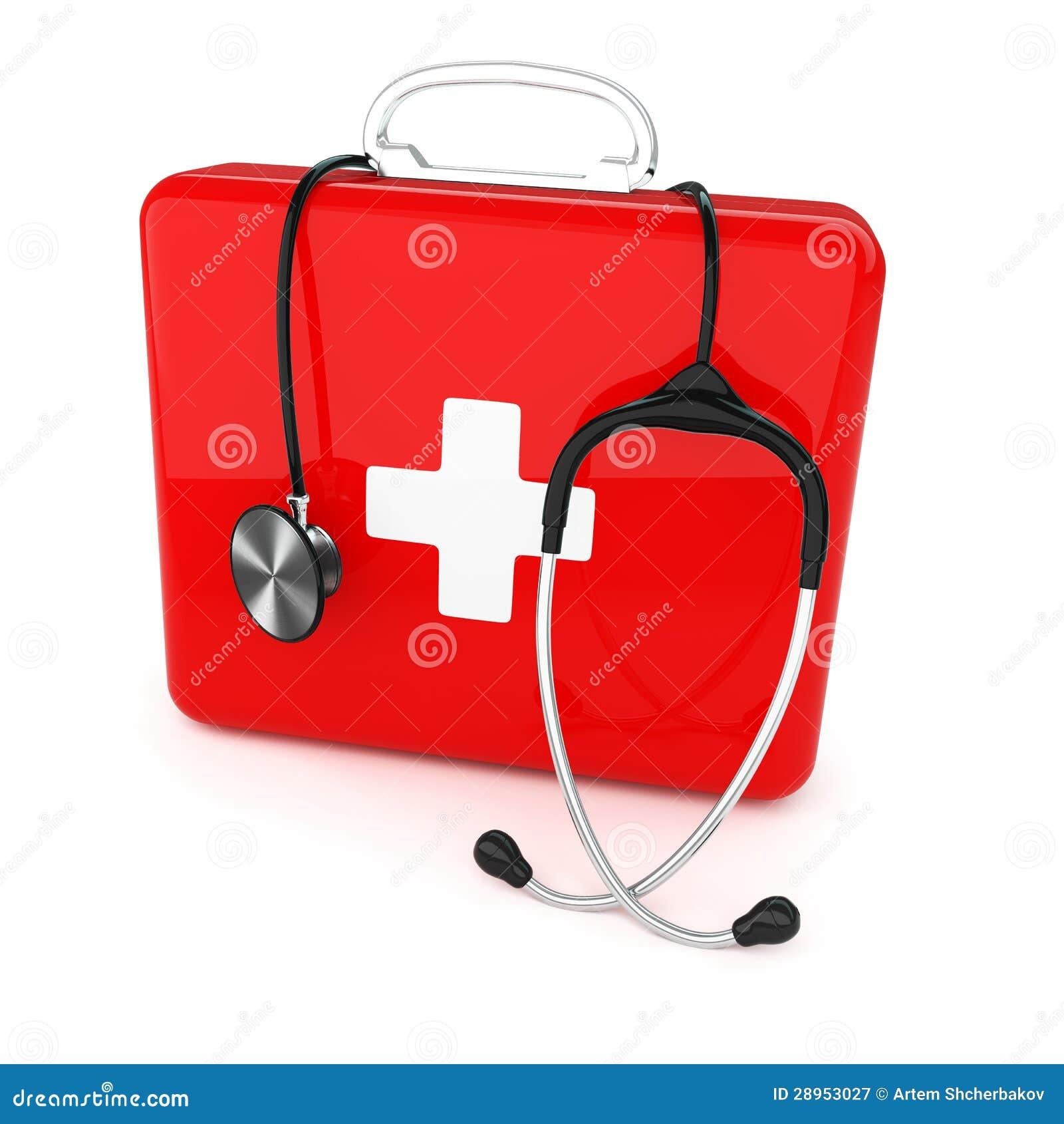 Pierwsza pomoc stetoskop i zestaw