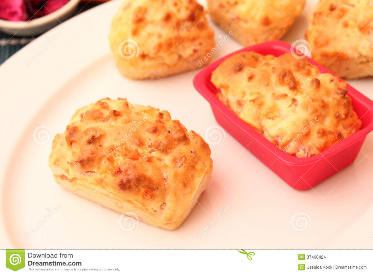 pies with cheese and bacon stock images image 37466424