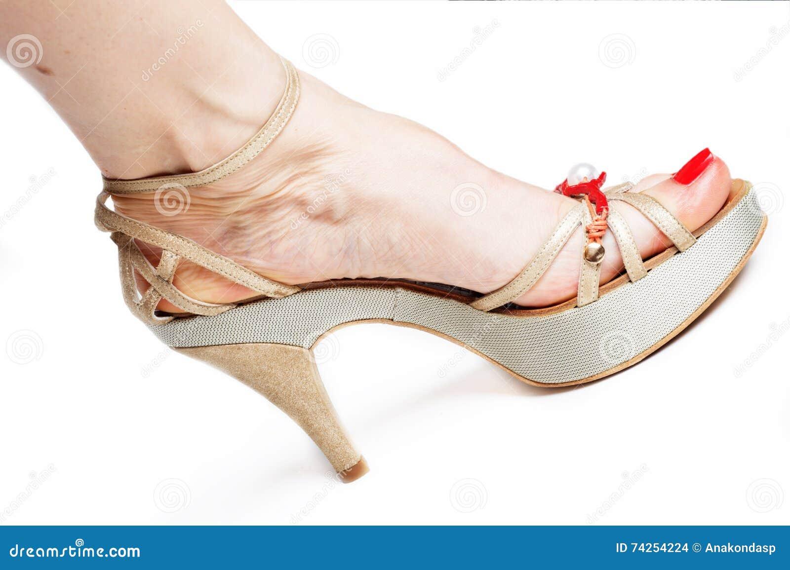 Sandalia En De Con Pies Elegancia La Mujer Tacón Alto El n0wO8Pk