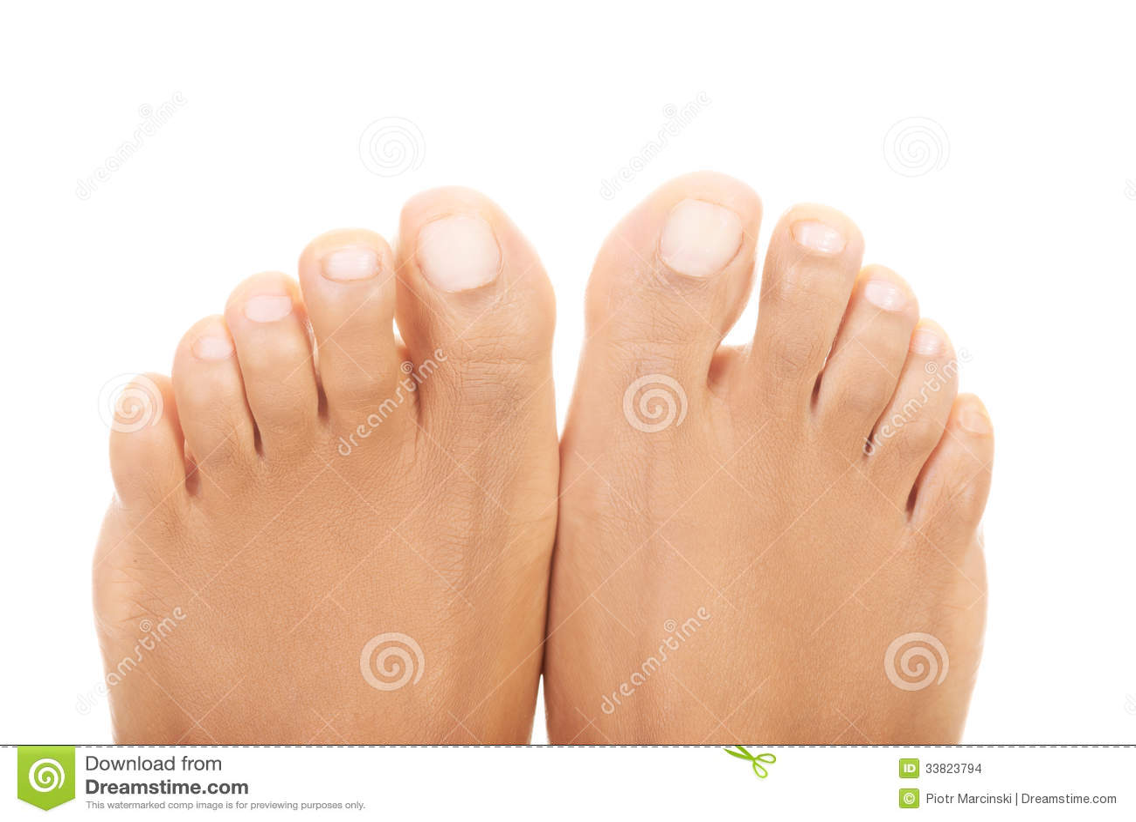 blanco dedos de los pies