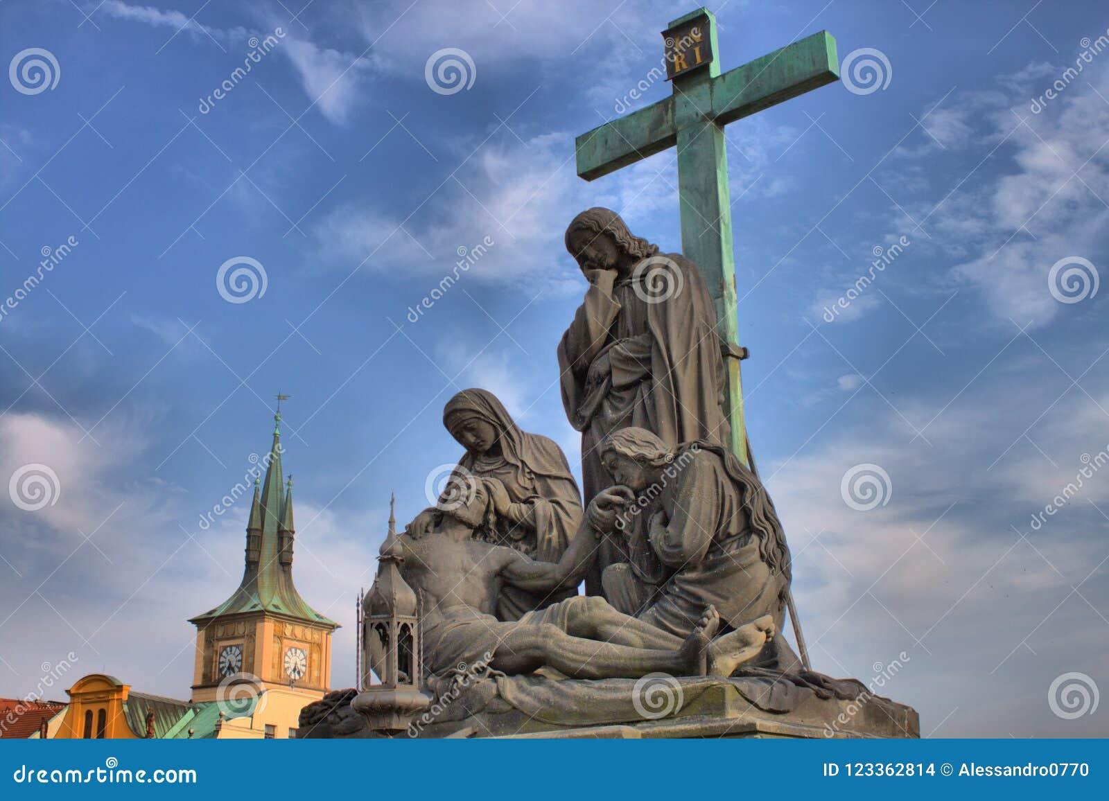 Pieta na Charles moscie w Praga