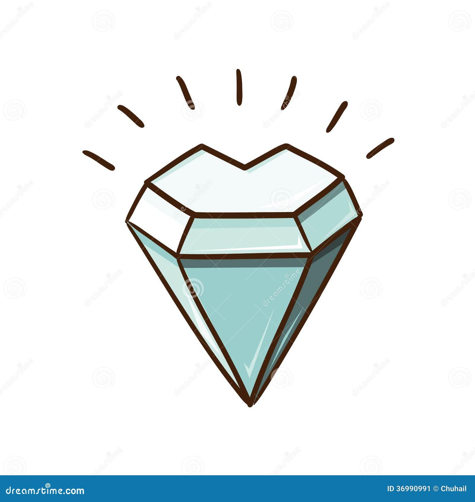 Pietra del diamante a forma di cuore isolata su bianco for Soggiorno a forma di diamante