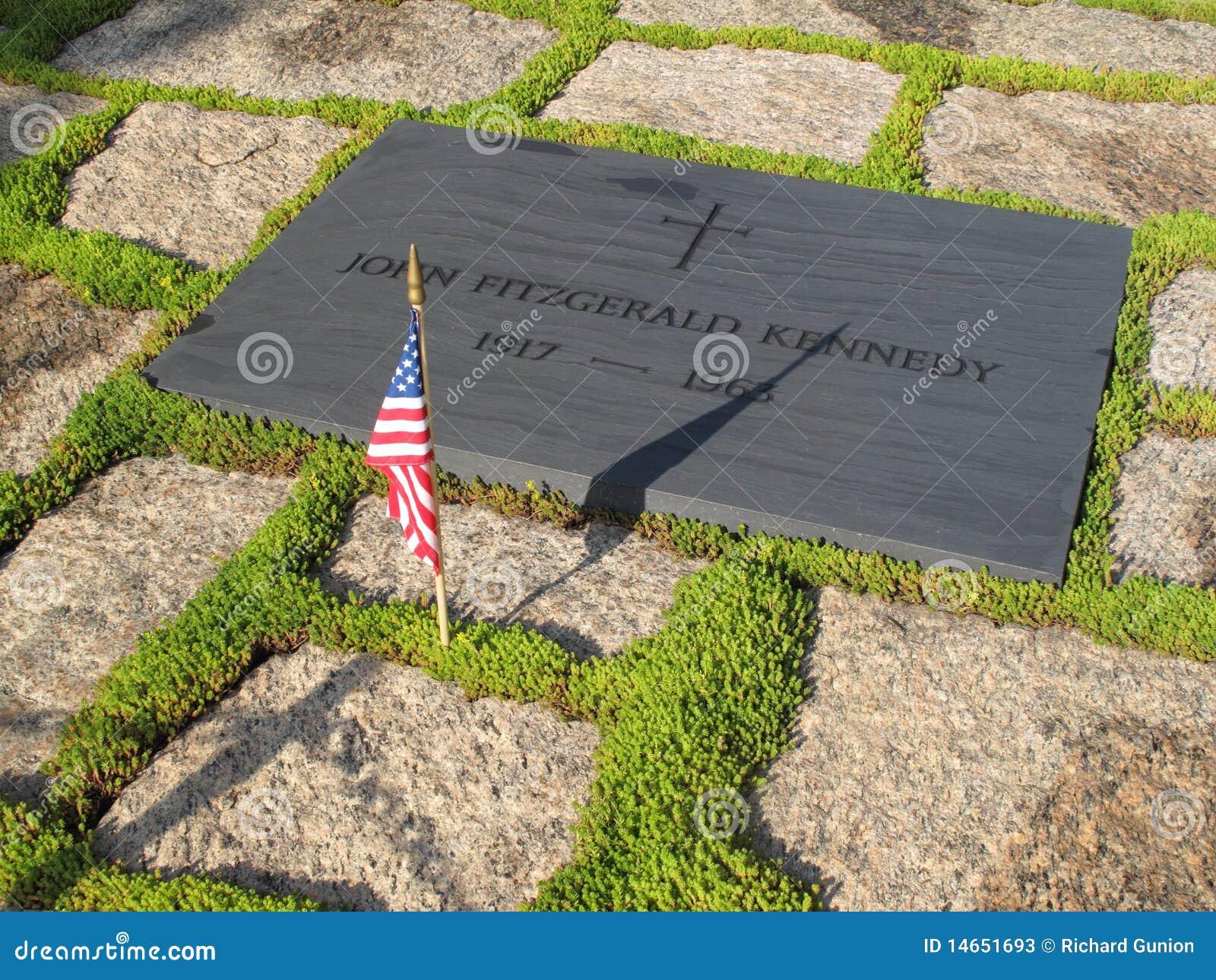 Pietra Della Tomba Del John F Kennedy Fotografia Stock