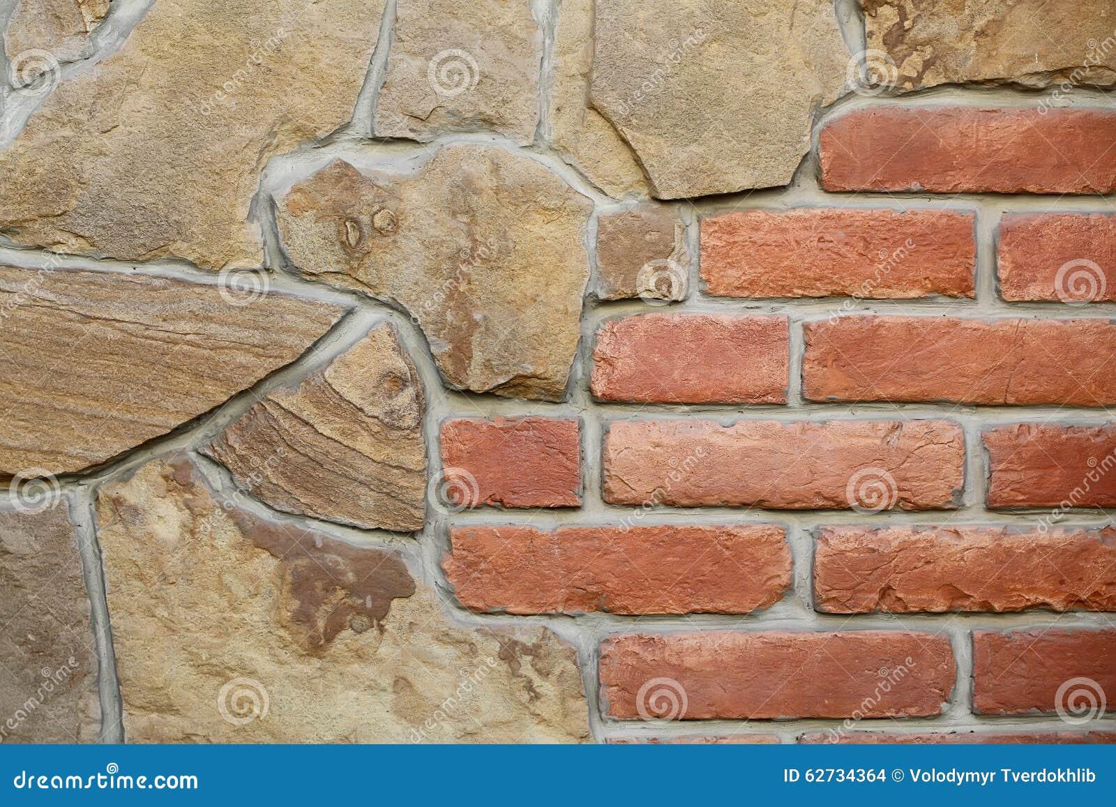Pietra e muro di mattoni senza cuciture fotografia stock for Mattoni e pietra americani