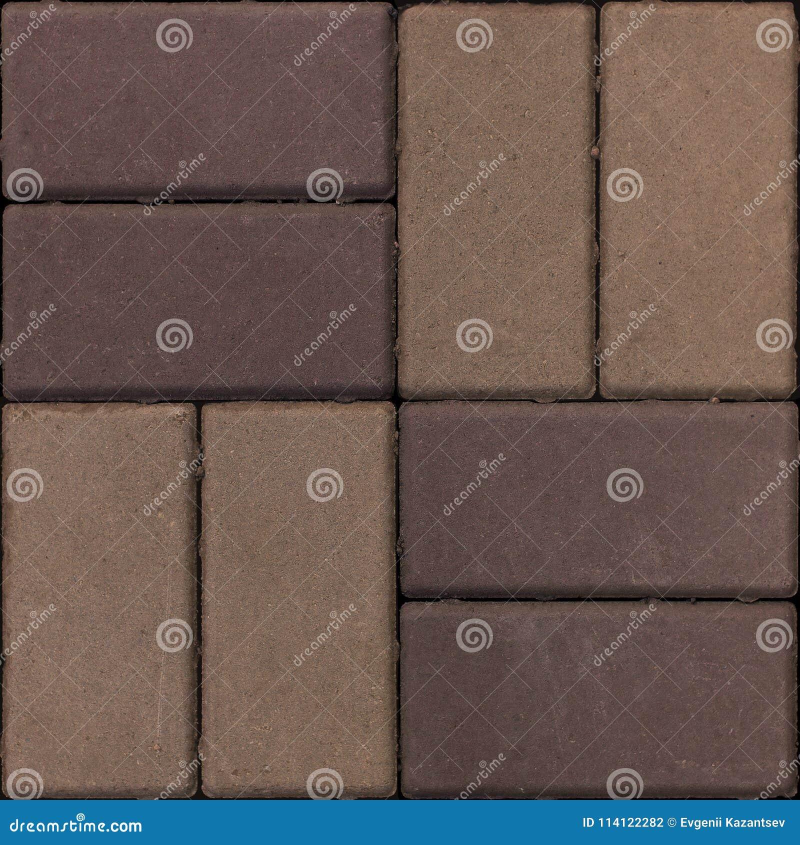 Pietra per lastricati di struttura seamless frammento Colore del Brown