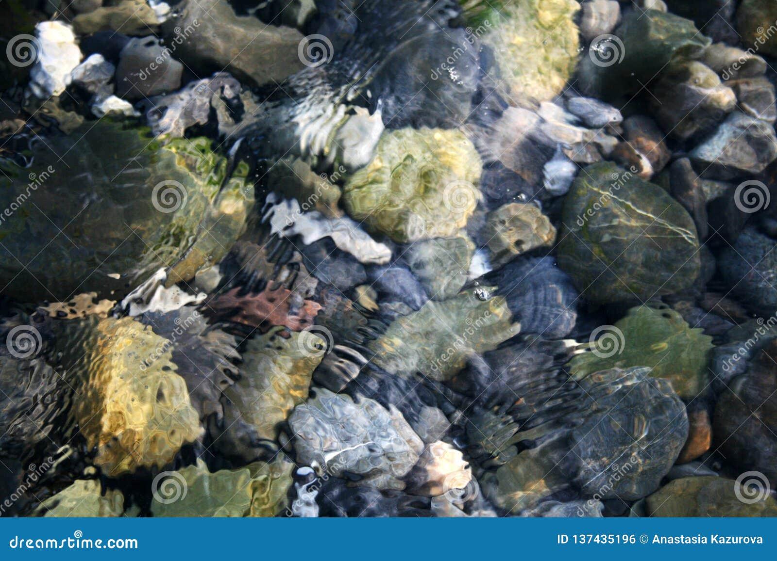 Pietre in acqua di mare