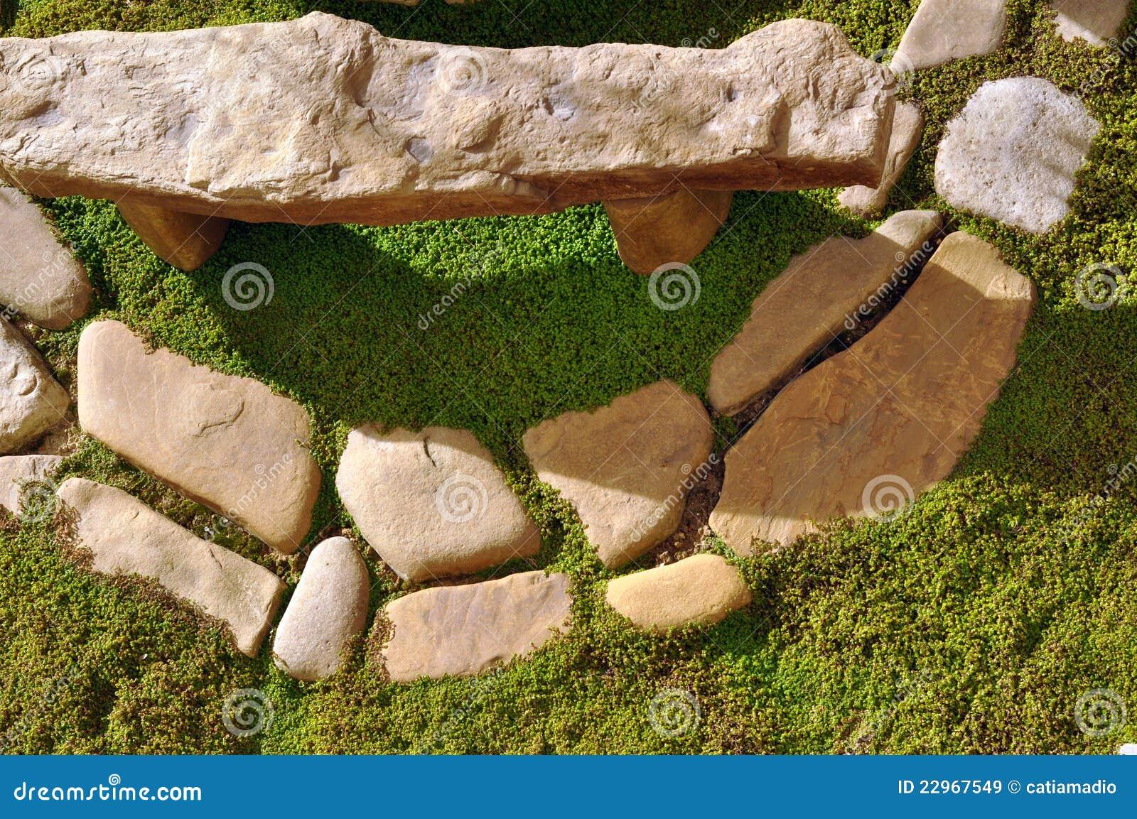 Pietre del giardino immagine stock immagine di cerchio for Disegni frontali in pietra