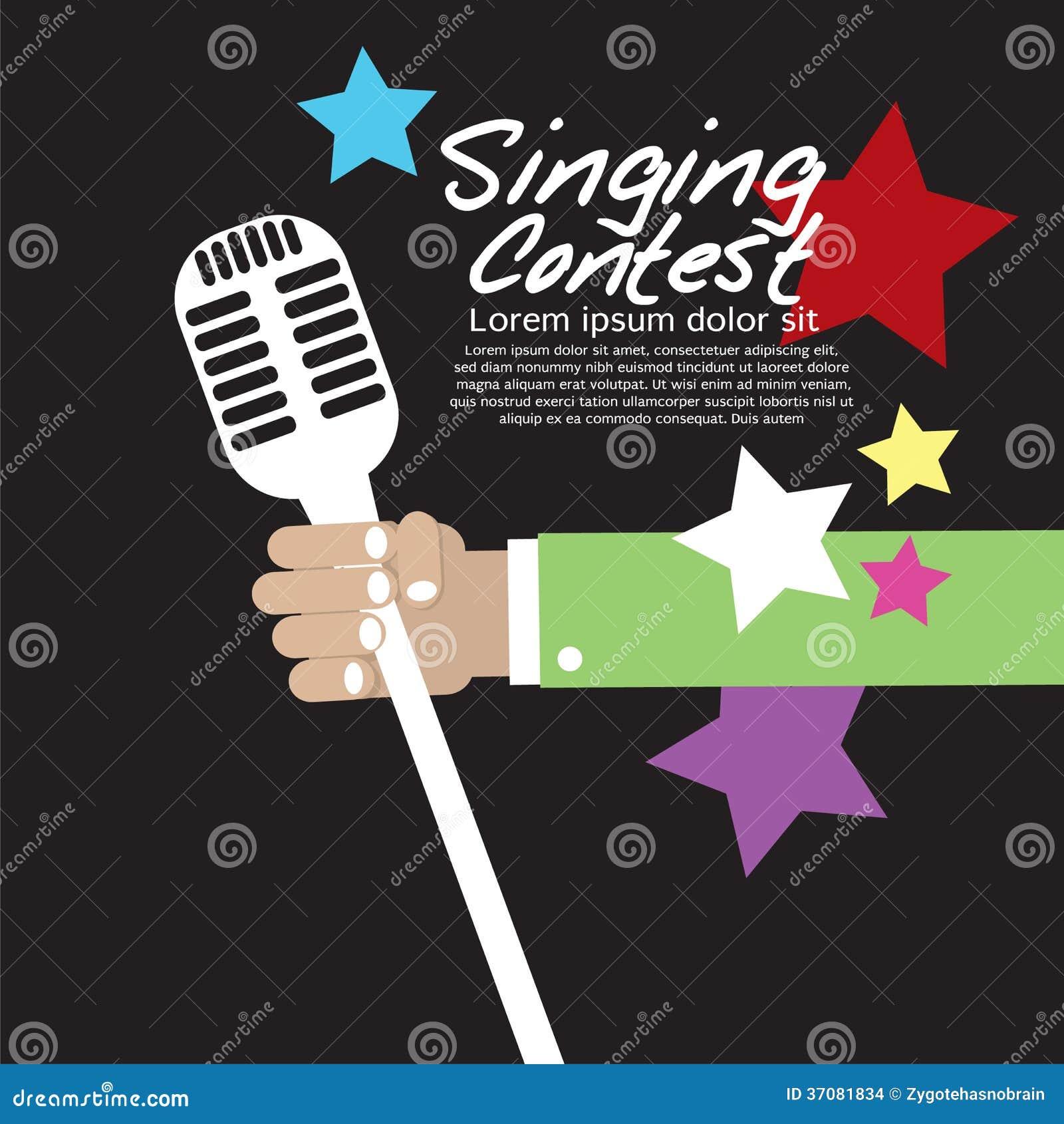 Download Śpiewacki Konkurs Konceptualny. Ilustracja Wektor - Ilustracja złożonej z współzawodniczy, skała: 37081834