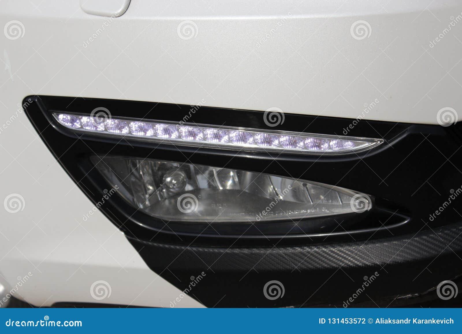 Pieza blanca del coche, linterna del coche luces diarias blancas llevadas
