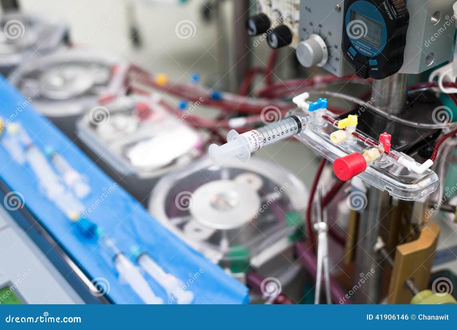 Pieza de la máquina corazón-pulmón